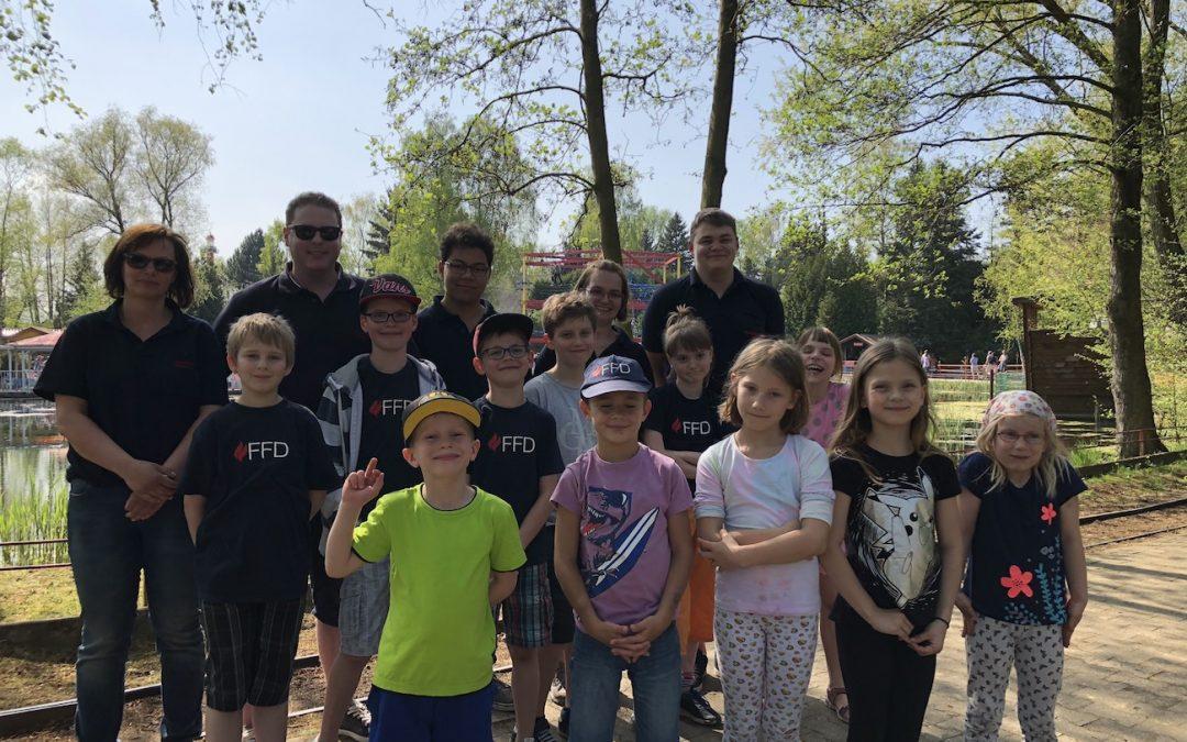 Kinderfeuerwehr Davenstedt besucht das Rasti-Land